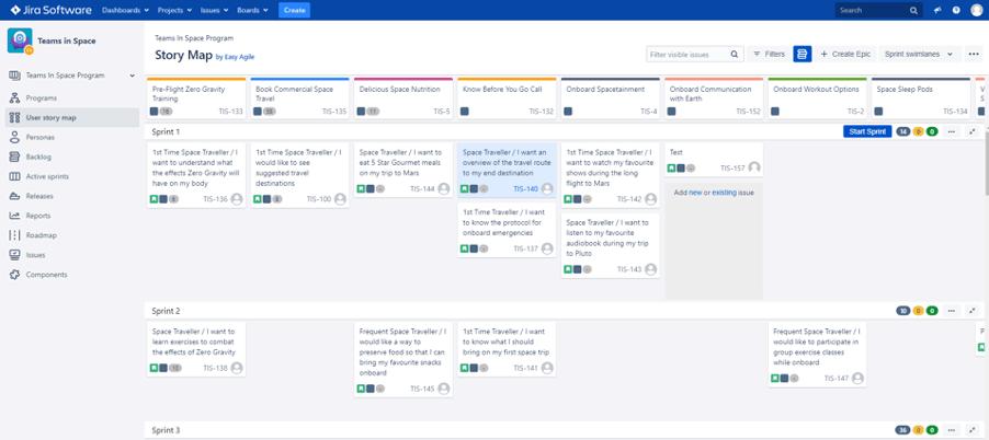 Easy Agile User Story Map