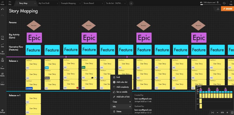 draft.io User Story Map