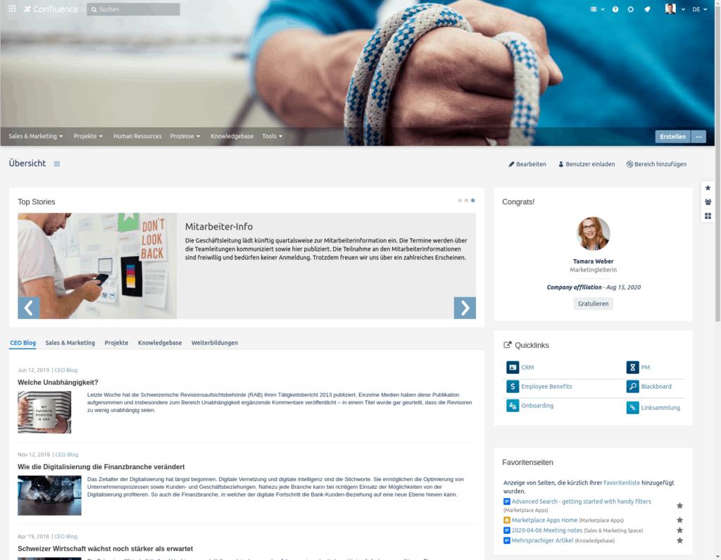 Enterprise Theme  - Atlassian Intranet Lösung
